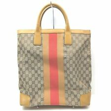 Gucci Tote Bag GG Sherry Browns Canvas 1402841