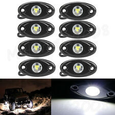 8X LED Rock Lights 4x4 Off-Road Truck Trail ATV White/Red/Blue/Green/Amber