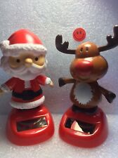 Solar Power Dancing Toy Set Of 2 Christmas Solars For Home Car Decor Gift