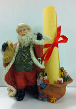 PartyLite Christmas Santa Checking His List Tealight Candle Holder New NIB