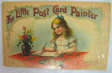 Little Post Card Painter 1904 McLoughlin Bros NY Post cards to paint & send #189