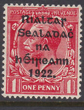 IRELAND, Scott #24: 1d, Mint, 1922 Thom Overprint in Blue-Black