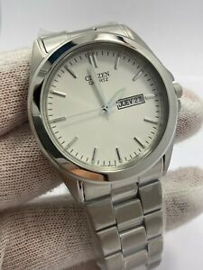New Citizen Stainless Steel Date Day Quartz Watch BF0580-57A