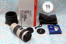 Canon EF L 70-200mm f/4 IS USM Red Line zoom lens, excellent, DSLR 5D/6D