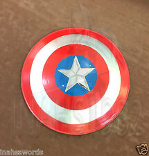 """Captain America Movie Shield Red 22"""" with Display Wall Plaque"""