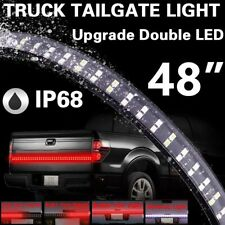 """48"""" Double Row LED Truck Tailgate Light Bar Strip Red White Reverse Stop"""