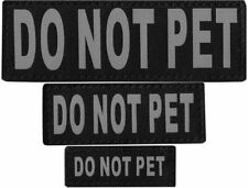 DO NOT PET  Patch Reflective Extra Label Tag for Dog Harness Service