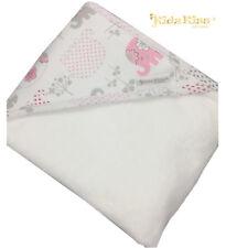 KIDZ KISS Baby Velour Hooded Towel with Mitt Set [Elephant / Pink]