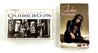 THE LONDON QUIREBOYS - Lot of 2 Cassette Rare 4 Track Promo Sampler Tape 1990