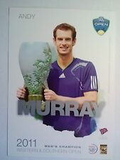 ANDY MURRAY 5X7 2012 WESTERN & SOUTHERN TOURNAMENT PLAYER COLLECTOR CARD ATP