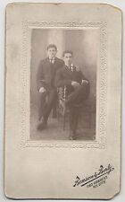 CABINET CARD PORTRAIT FATHER AND SON. 380 GRAND ST. N.Y.
