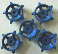 "5 BLUE CAST IRON WATER VALVE HANDLES  2 1/4"" INCH"