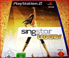 PS2 SINGSTAR LEGENDS (HIT LEGENDEN)*MIT 30 LEGENDÄREN KAROKE HITS*