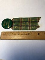 Vintage advertising Fowler's 69th Anniversary Pinback & Ribbon—Phila. Badge Co