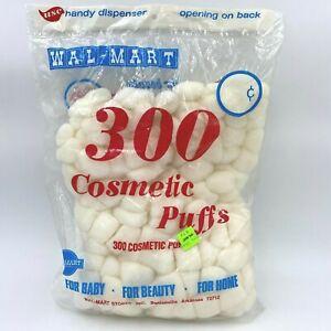 Vintage Walmart Advertising Cosmetic Puffs Bag Unused Frontier Font Logo HB1