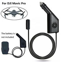 Black Intelligent Battery Car Charger Adapter Plug For DJI Mavic Pro