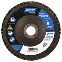 Norton 66623399184 Flap Disc, 6 In X 80 Grit, 7/8, Grade: Coarse