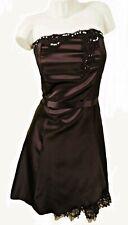 LIGHTLY BONED SHORT BLACK PARTY DRESS, THE VESTRY SIZE UK 8, LD211