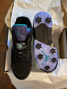 Air Jordan 5 Low Golf Shoe Grape/Black CU4523-001 US10 NEW!