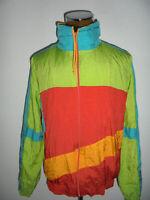 vintage 90s SHAMP Nylon Jacke glanz trilobal sports shiny jacket oldschool XL