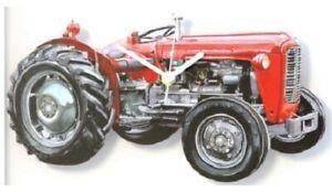 Massey Ferguson MF35 Red Tractor Battery Wall Clock