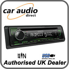 Kenwood KDC-120UG - CD MP3 USB RDS Radio Receiver Green Key Illumination
