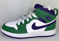 Jordan 1 Mid PS Incredible Hulk Aloe Verde Court Purple Size 11C 640734 300