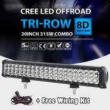 "20""INCH 315W CREE TRI ROW LED LIGHT BAR SPOT FLOOD WORK LAMP UTE ATV 22"" 23"" 24"""