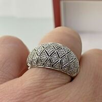 Ema Cubic Zirconia Dome Ring In Sterling Silver Sz 7