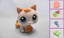 Littlest Pet Shop #134 White & Yellow Baby Kitten Cat+1 FREE Access. 100% Authen