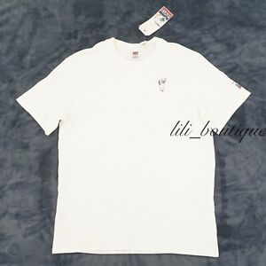 NWT Levi's x Peanuts Men's Relax Fit Pocket Tee Shirt Cotton Snoopy White Size M