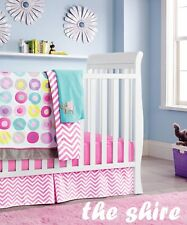 Baby Bedding Crib Cot Quilt Sheet Set-NEW 9pcs Quilt Bumper Sheet Dust Ruffle..