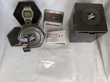 FULL SET Casio G-SHOCK GMW-B5000D-1 Silver Steel Metal Square Bluetooth Orig Own