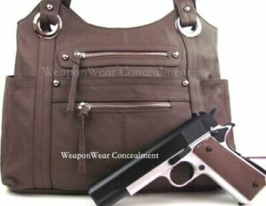 Concealment Purse Brown Concealed Carry Holster Gun Conceal Purse