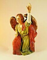 O'Well Porcelain Angel Figurine Kneeling Winged Angel Reaching to Heaven
