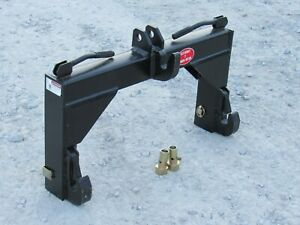 3 Point Quick Hitch with Bushings Fits Cat 2 Tractor Implement Attachment