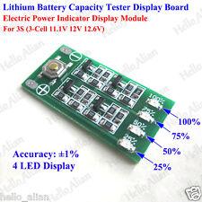 3S 11.1V 12.6V 18650 Li-ion Lithium Battery Cell Capacity Level Indicator Tester