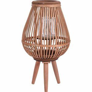 Dekolaterne Bambus//Glas schwarz Höhe 56 cm Tonga