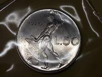 REPUBBLICA ITALIANA 50 lire 1970 FDC Vulcano  da divisionale