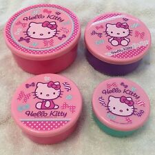 Nwt Sanrio Hello Kitty Pink Bowls Four Lunch Containers Rare Gift New