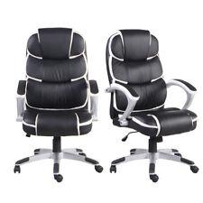 Ergonomic PU Leather High-Back Executive Computer Desk Task Office Chair Black