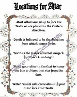 Location for Altar 1pg parch Spells Rituals for Wicca Book of Shadows Pagan
