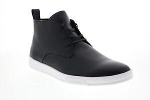 Calvin Klein Banner Saffiano Smooth 34F9285-BLK Mens Black Designer Sneakers