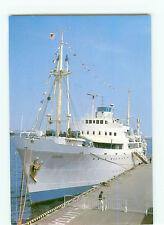 Vintage Postcard M V Logos Boat Ship Yatch Postfach Germany # 2822