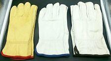 Work GLOVES GOATSKIN Genuine LEATHER MEN's Unlined Heavy Duty Style Glove