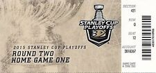 2015 ANAHEIM DUCKS VS CALGARY FLAMES PLAYOFFS GAME #1 TICKET STUB