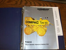 Compac T24/33 Parts Manual with Lister Petter Parts List and Operators Handbook