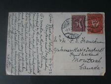 Germany 1922 postcard to Canada , rated 3m 50pf -1573