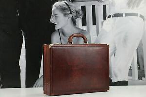 BALLY Vintage Leather Hard Case Professional Lawyer Briefcase Bag SELLING AS IS