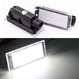 2X Xenon White LED License Plate Light For Renault Espace MK4 Twingo Clio Megane